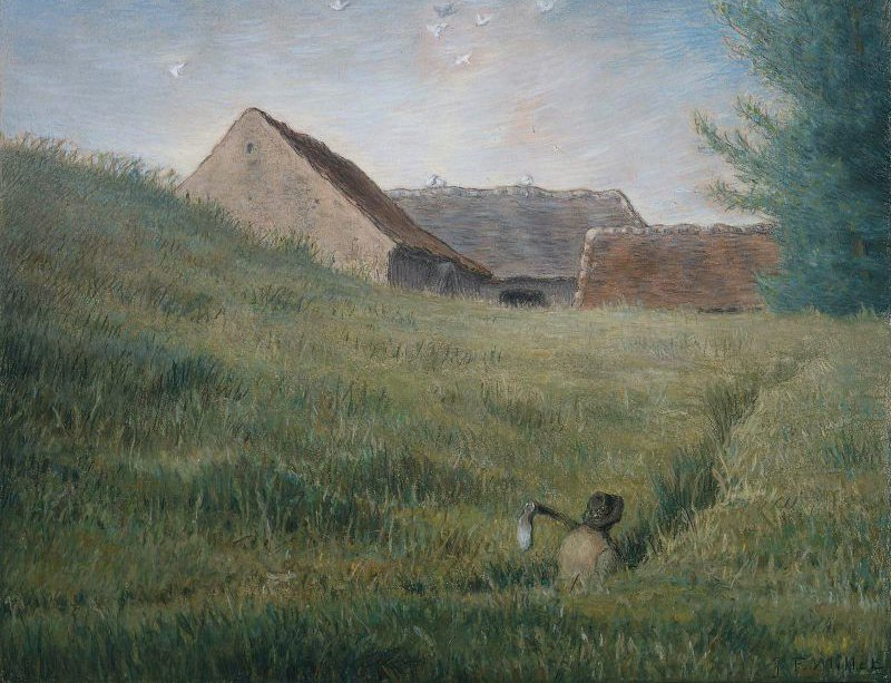 Path through the Wheat 1867   Jean Francois Millet   oil painting