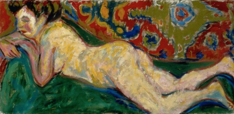 Reclining Nude 1909 | Ernst Ludwig Kirchner | oil painting