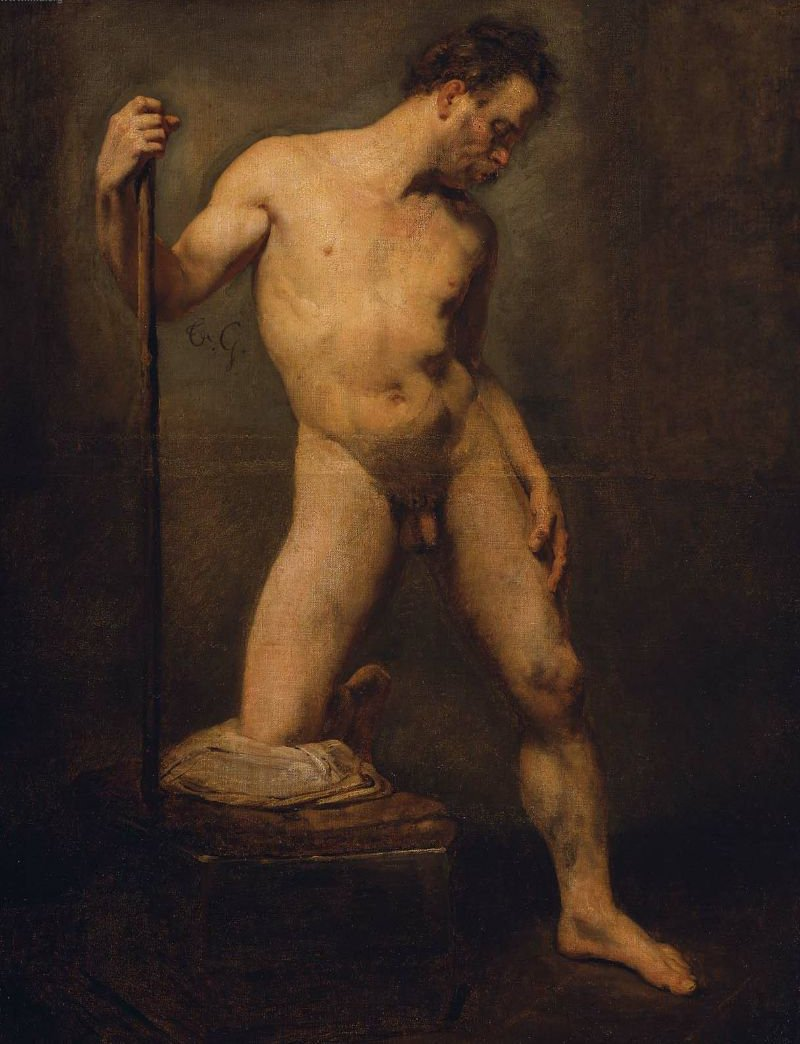 Study of a Male Nude | Jean Louis Andre Theodore Gericault | oil painting