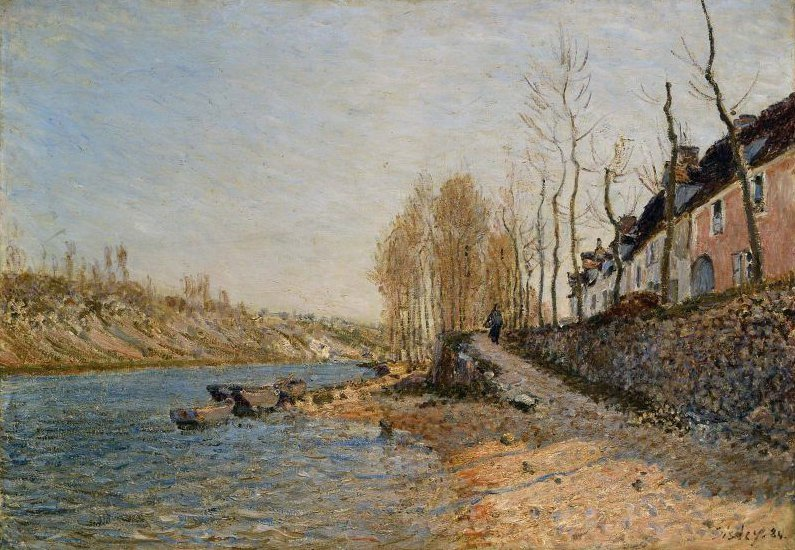 La Croix Blanche at Saint Mammes 1884 | Alfred Sisley | oil painting