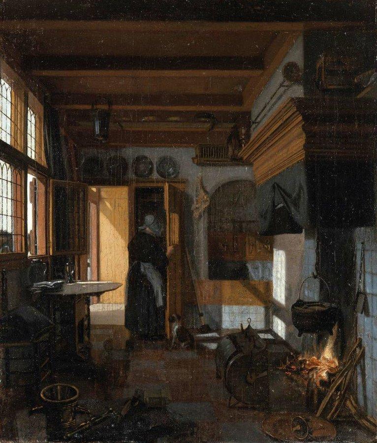 Kitchen Interior 1660s | Emanuel de Witte | oil painting