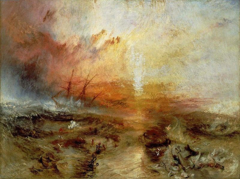 Slave Ship Slavers Throwing Overboard the Dead and Dying Typhoon Coming On 1840 | Joseph Mallord William Turner | oil painting