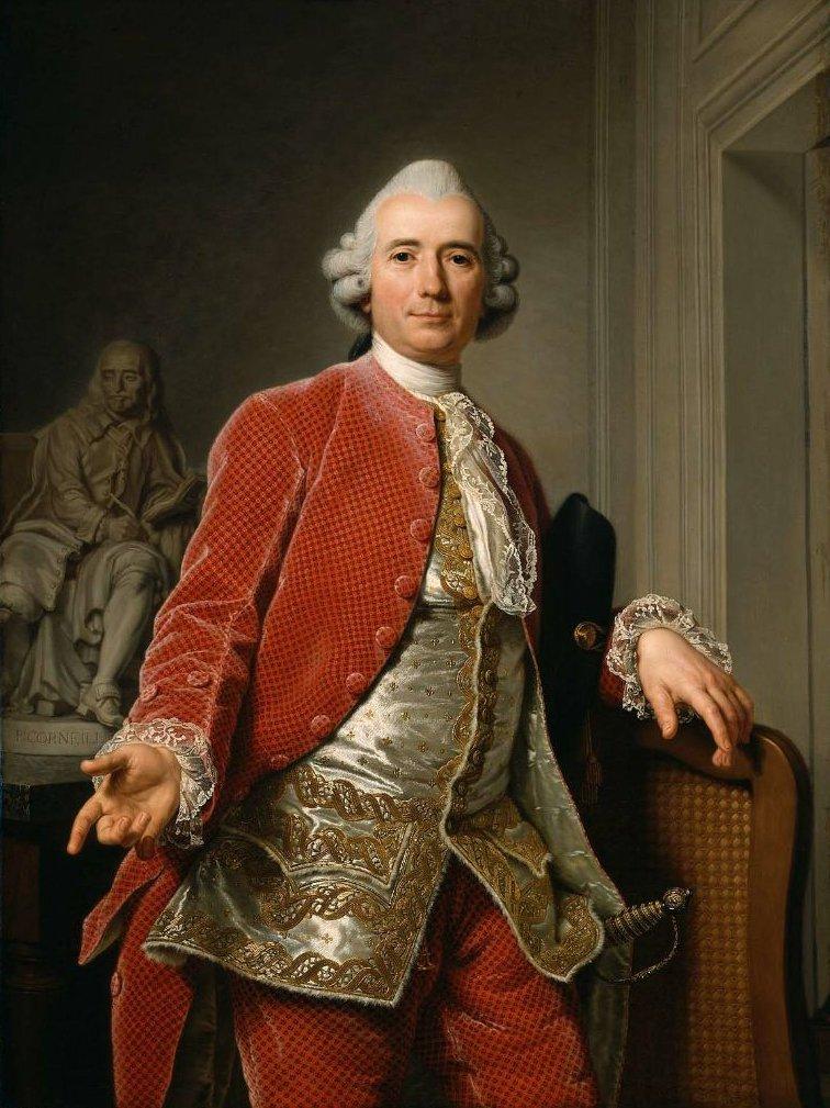 Portrait of Jean Jacques Caffieri 1784 | Adolf Ulrik Wertmuller | oil painting