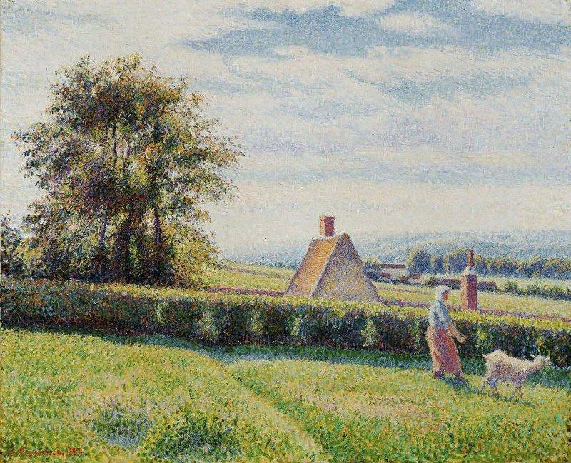Spring Pasture 1889 | Camille Pissarro | oil painting