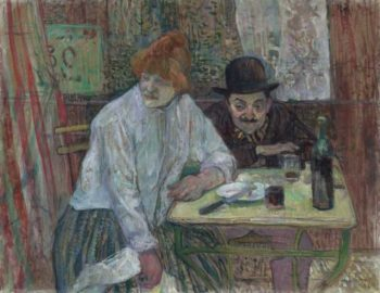 At the Cafe La Mie | Henri de Toulouse Lautrec | oil painting