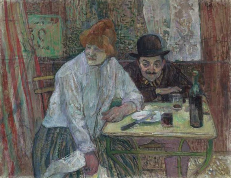 At the Cafe La Mie | Henri de Toulouse Lautrec | oil painting