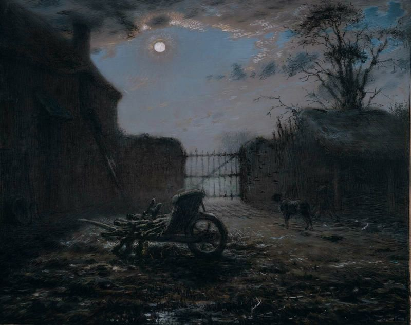 Farmyard by Moonlight 1868 | Jean Francois Millet | oil painting