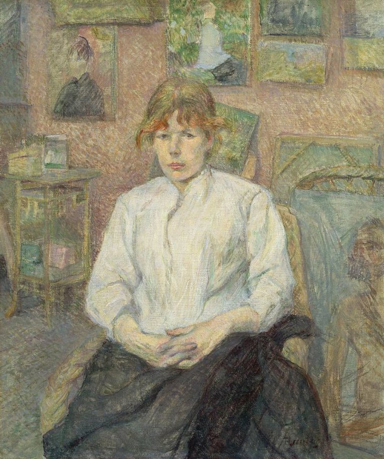 Carmen Gaudin in the Artists Studio 1888 | Henri de Toulouse Lautrec | oil painting