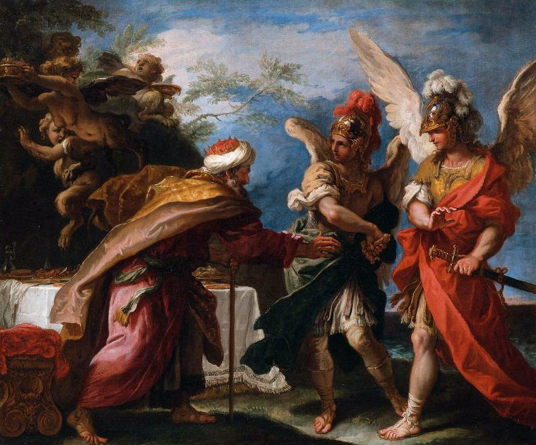 Phineas and the Sons of Boreas 1695 | Sebastiano Ricci | oil painting