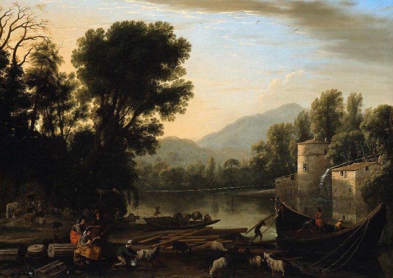 Mill on a River 1631 | Claude Lorrain | oil painting