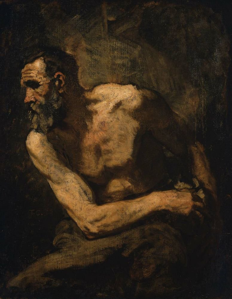 A Miser study for Timon of Athens 1876 | Thomas Couture | oil painting