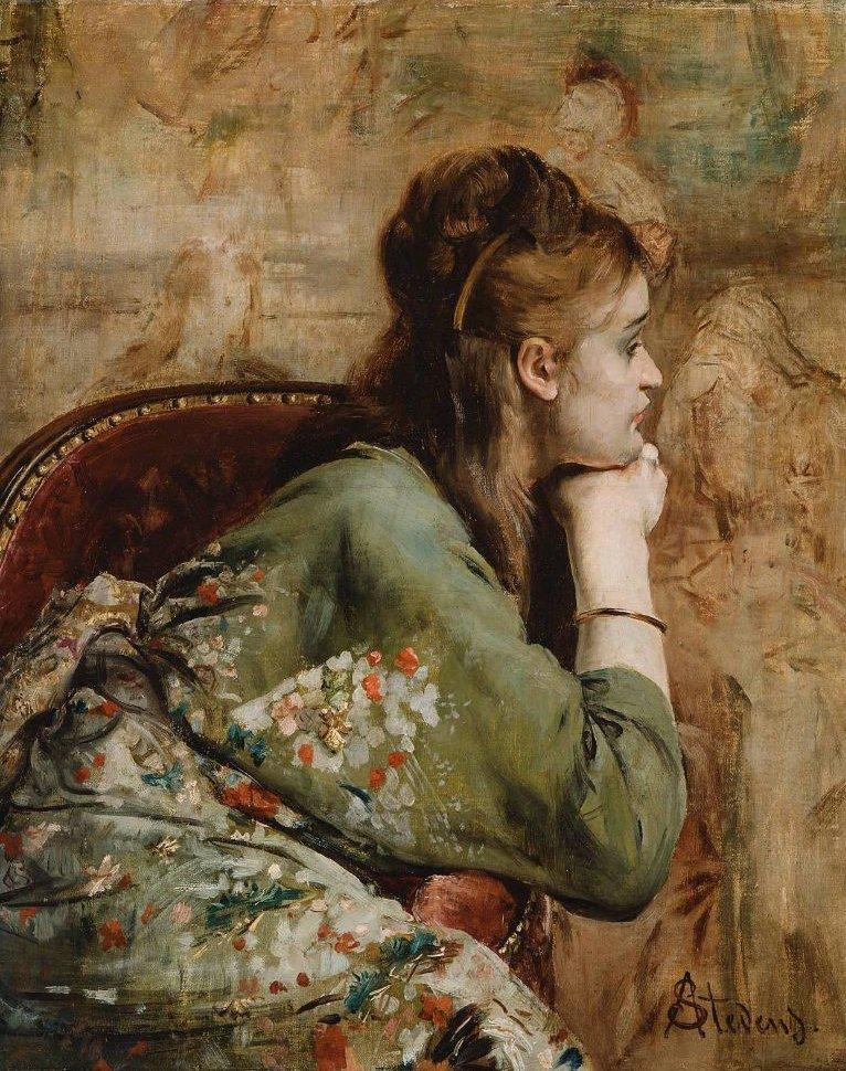 Meditation 1872 | Alfred Stevens | oil painting