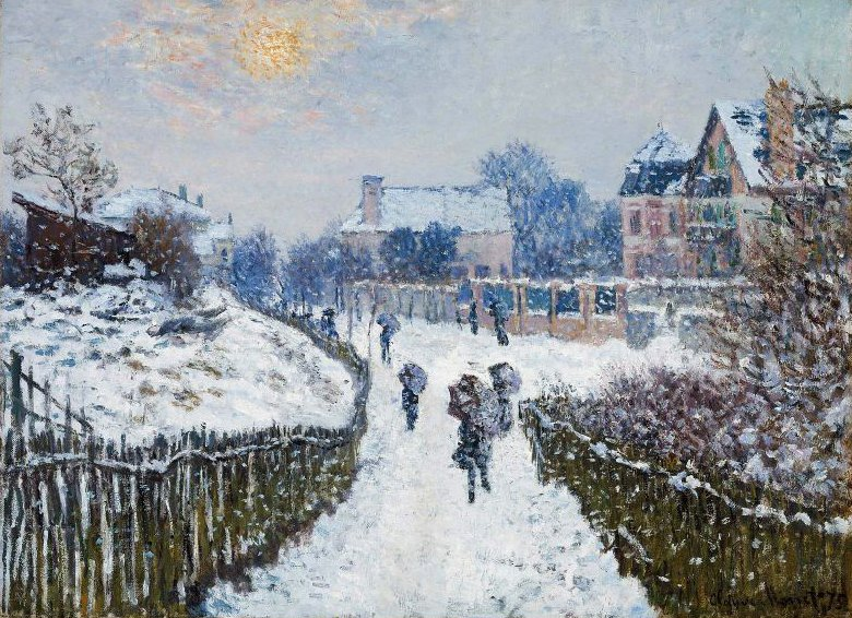 Boulevard Saint Denis Argenteuil in Winter 1875 | Claude Monet | oil painting