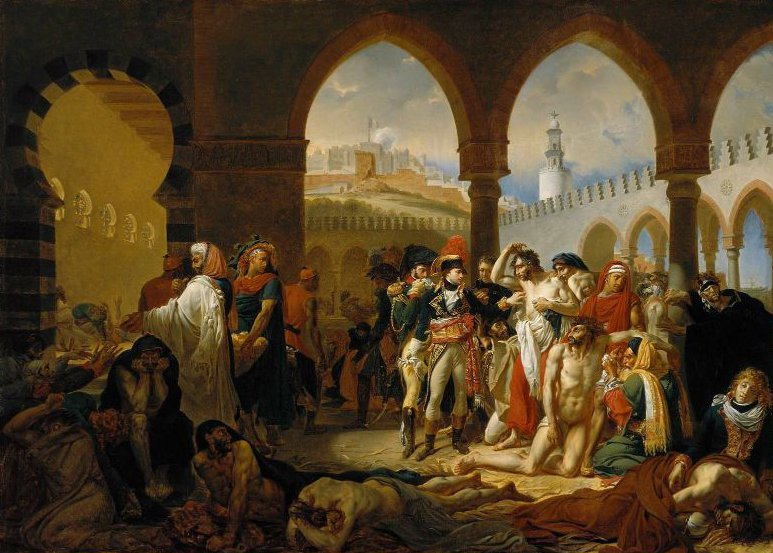 General Bonaparte Visiting the Plague Stricken at Jaffa 1823 | Antoine Jean Gros | oil painting