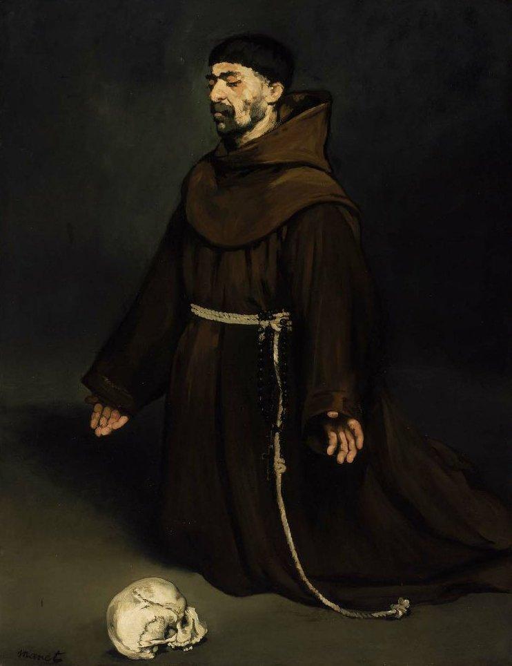 Monk in Prayer 1865 | Edouard Manet | oil painting