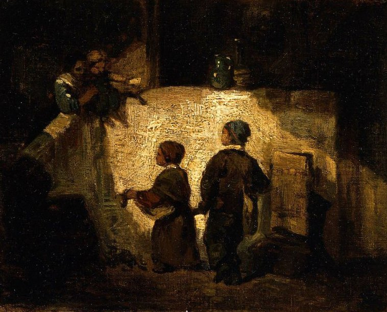 Young Beggars | Alexandre Gabriel Decamps | oil painting