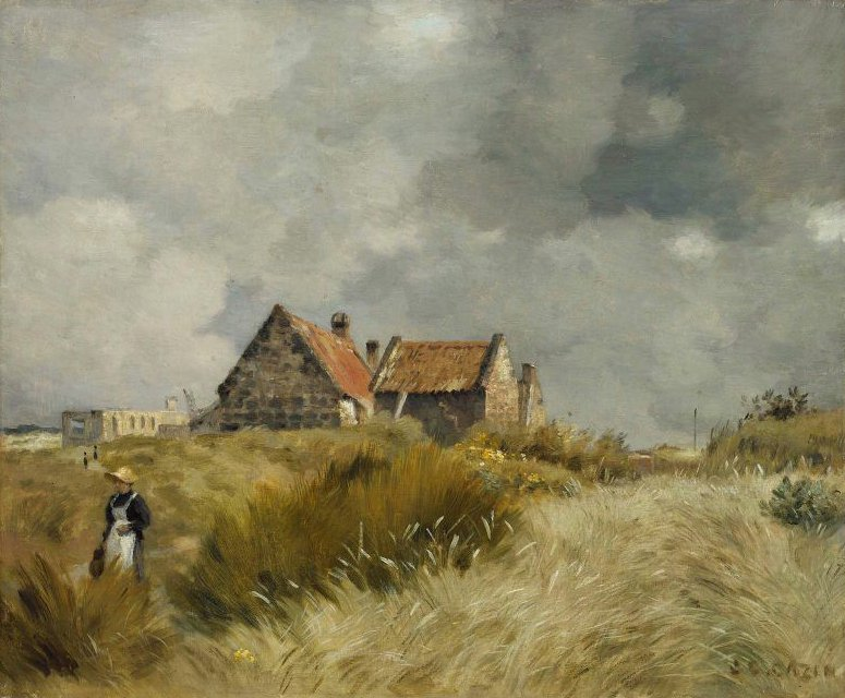 Cottage in the Dunes | Stanislas Henri Jean Cazin | oil painting