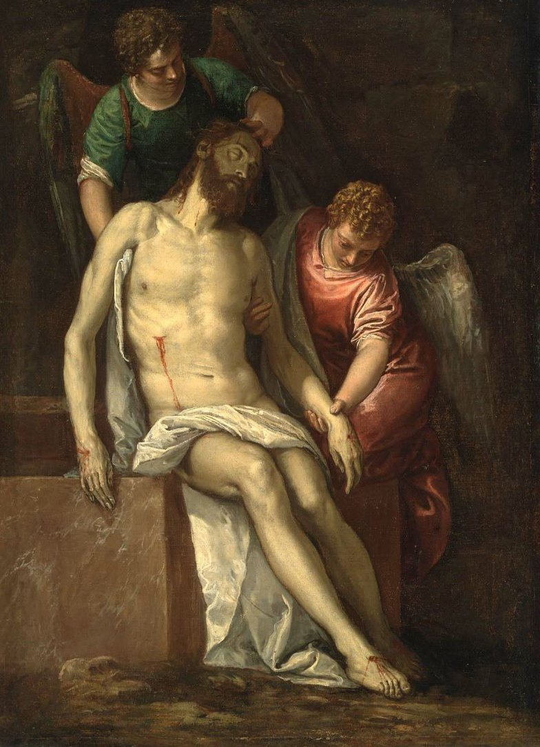 Dead Christ Supported by Angels 1580 | Paolo Veronese | oil painting