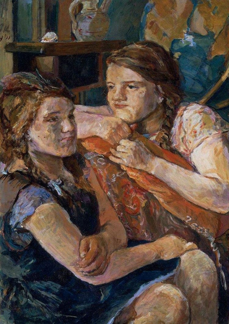 Double Portrait of Trudl 1931 | Oskar Kokoschka | oil painting