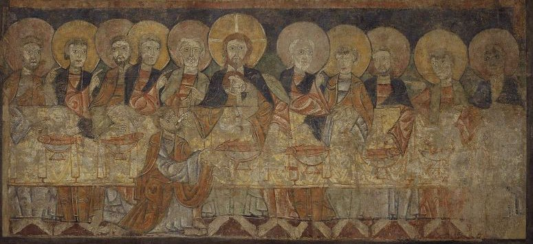 The Last Supper Frieze from the church of San Baudelio near Berlanga | Unidentified artist | oil painting