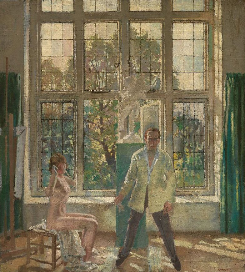 Summer Afternoon Artist in his Studio with a Model 1913 | Sir William Orpen | oil painting