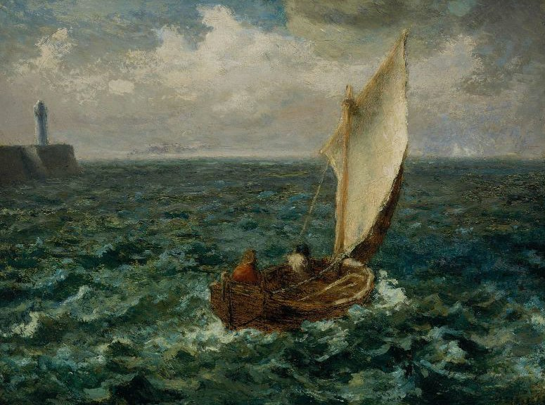 Fishing Boat 1871 | Jean Francois Millet | oil painting