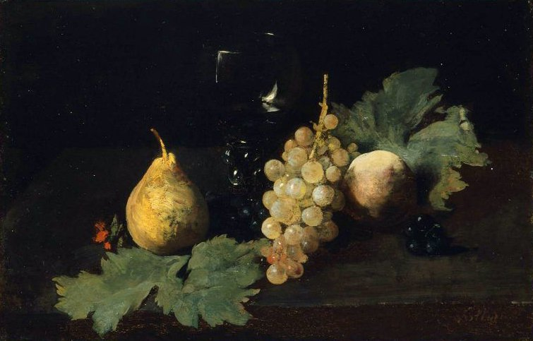 Fruit and a Wineglass | Antoine Vollon | oil painting