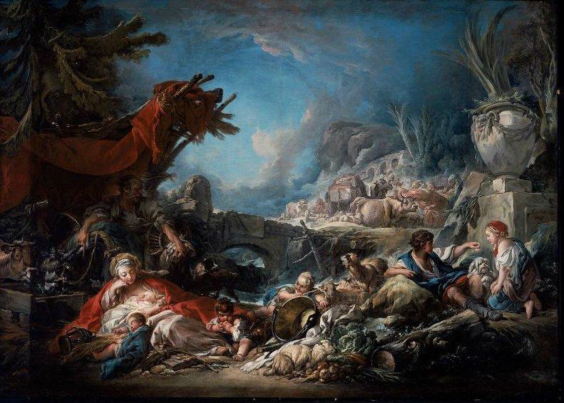 Halt at the Spring 1765 | Francois Boucher | oil painting