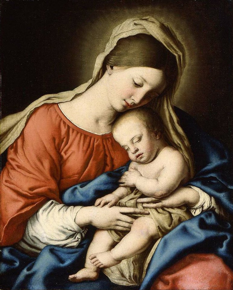 Virgin and Child | Sassoferrato | oil painting