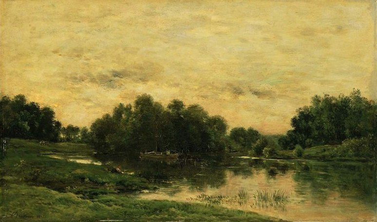 Ile de Vaux on the Oise near Auvers 1876 | Charles Francois Daubigny | oil painting