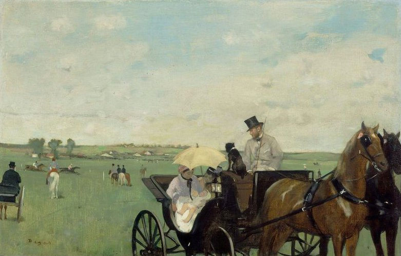 At the Races in the Countryside 1869 | Edgar Degas | oil painting