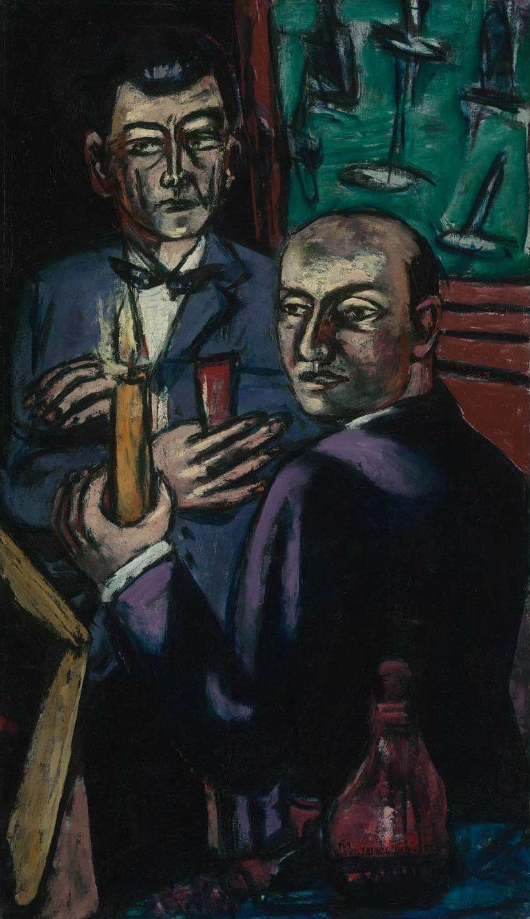 Double Portrait 1946 | Max Beckmann | oil painting