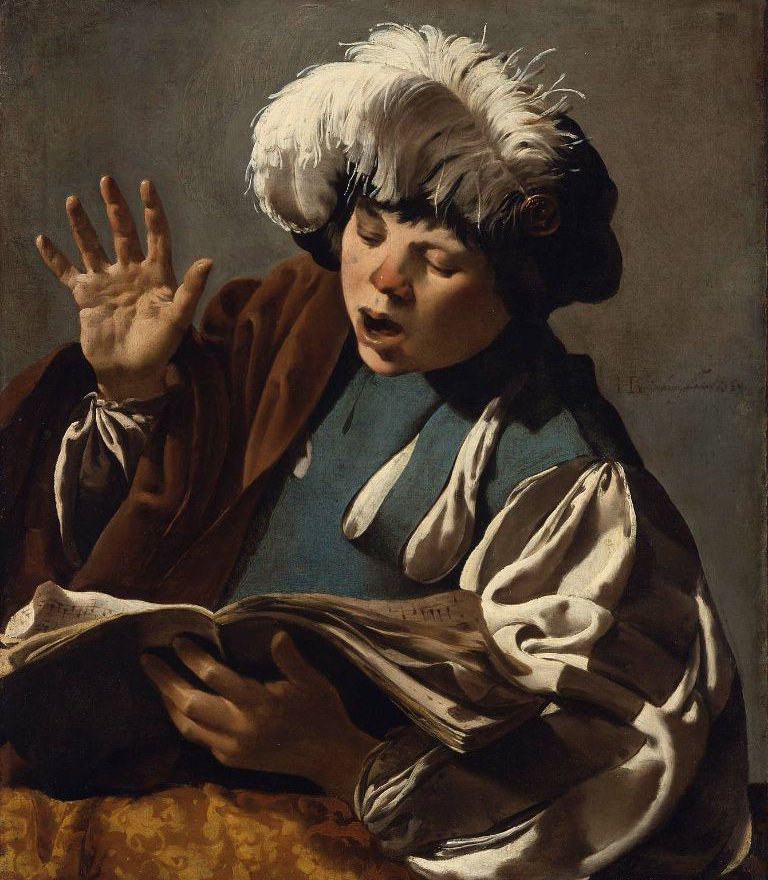 Boy Singing 1627 | Hendrick ter Brugghen | oil painting