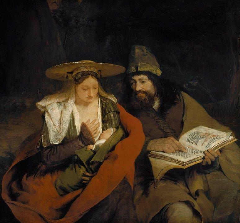 Rest on the Flight into Egypt 1690   Aert de Gelder   oil painting