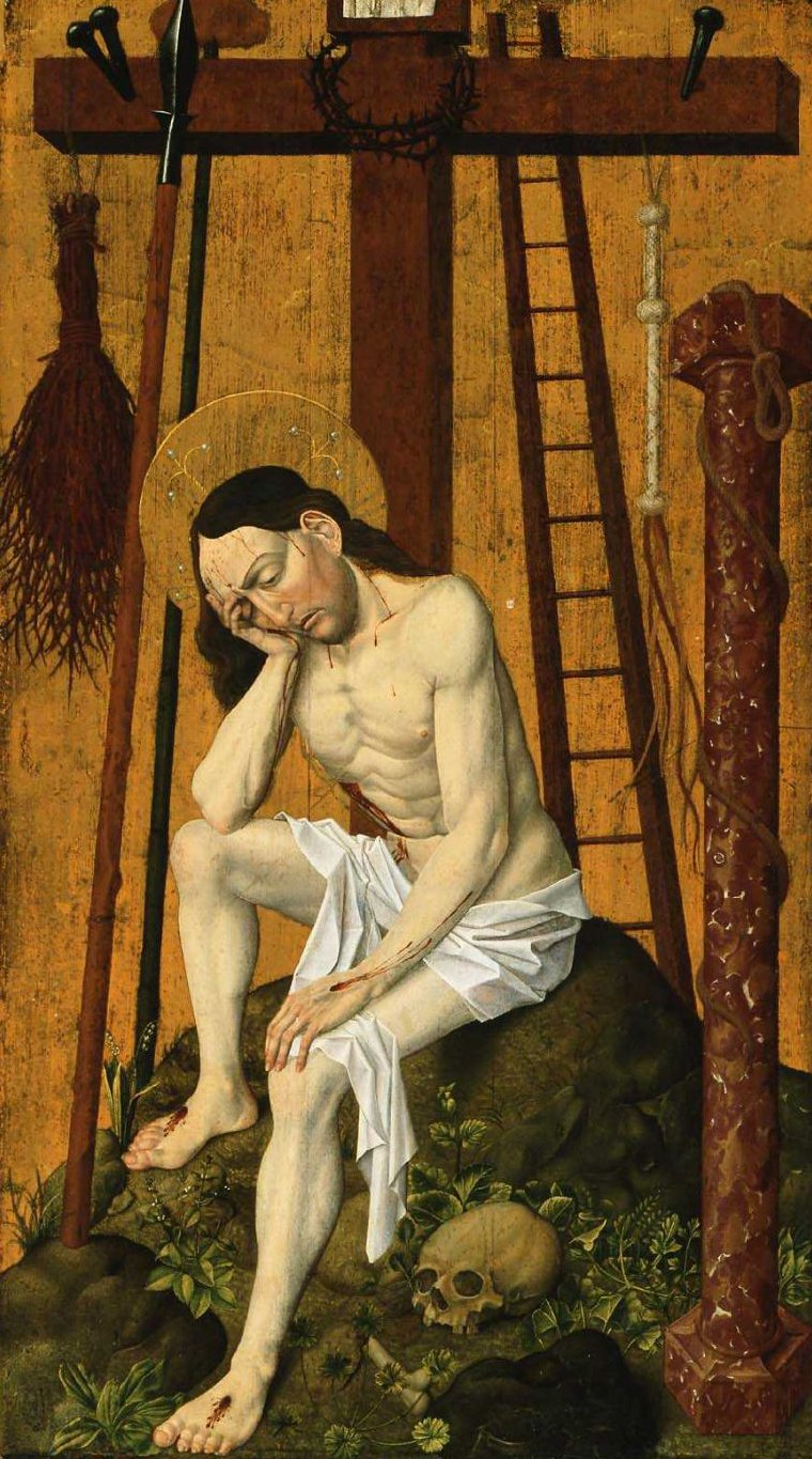 Christ as the Man of Sorrows 1470 | Unidentified artist | oil painting