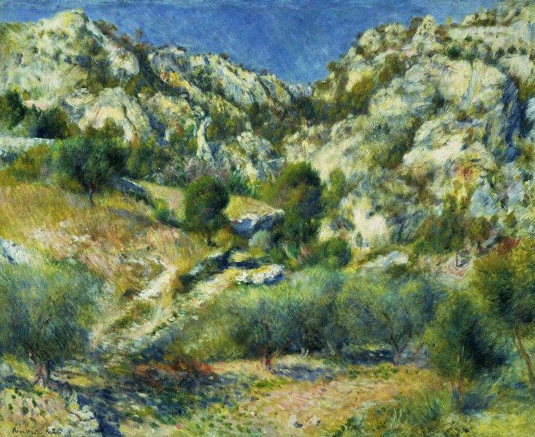 Rocky Crags at L Estaque 1882 | Pierre Auguste Renoir | oil painting