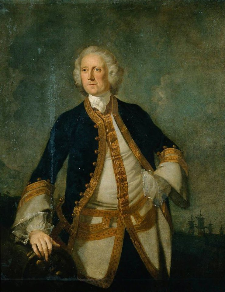 Portrait of a British Naval Captain | Richard Wilson | oil painting