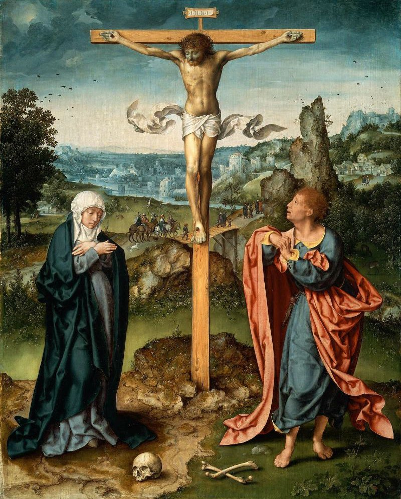 The Crucifixion 1525 | Joos van Cleve | oil painting