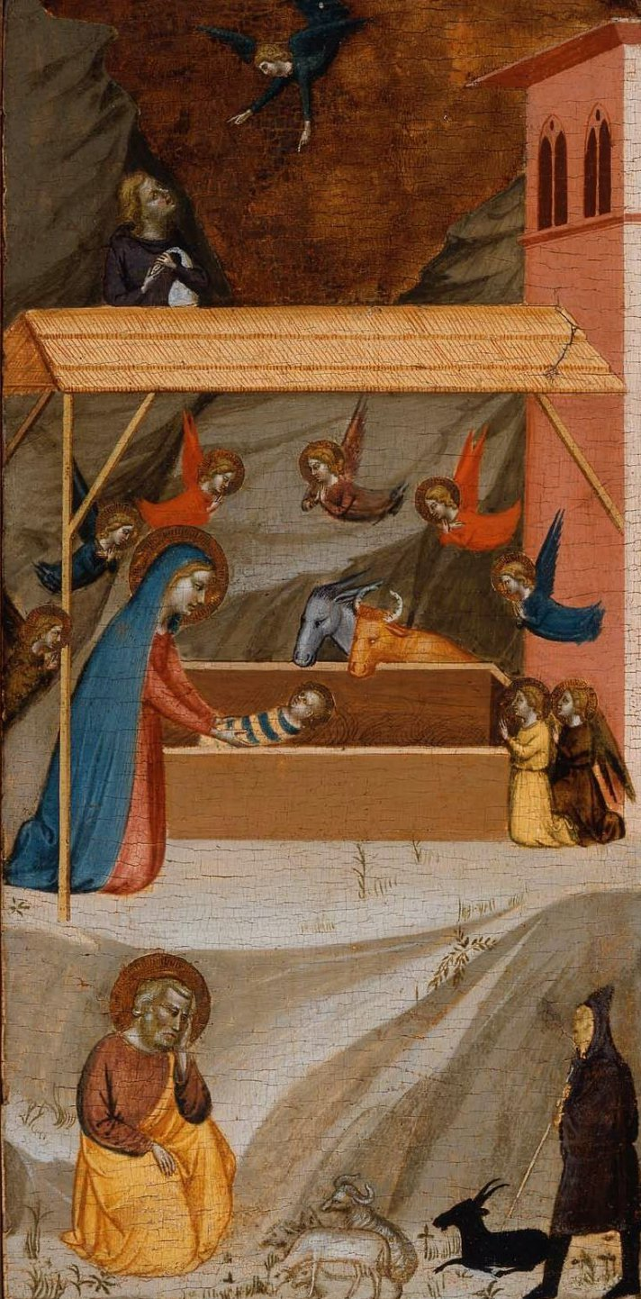 The Nativity and the Annunciation to the Shepherds 1336 | Bernardo Daddi | oil painting
