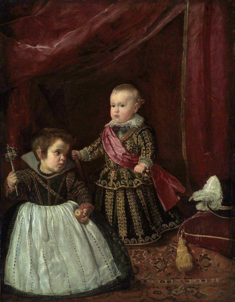 Don Baltasar Carlos with a Dwarf 1632 | Diego Rodriguez de Silva y Velazquez | oil painting