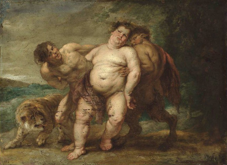 Drunken Bacchus with Faun and Satyr | Peter Paul Rubens | oil painting