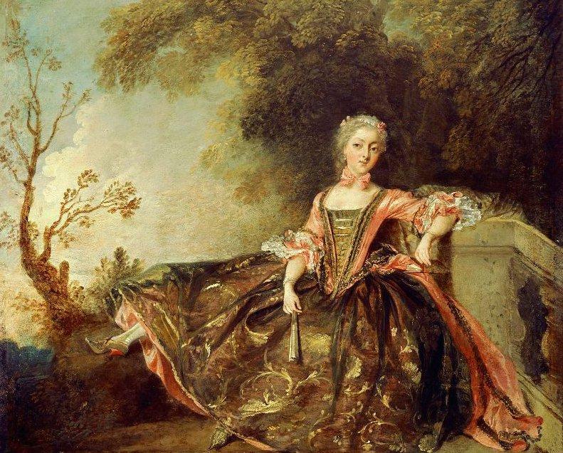 Portrait of a Dancer Mademoiselle Marie Salle 1735   Nicolas Lancret   oil painting