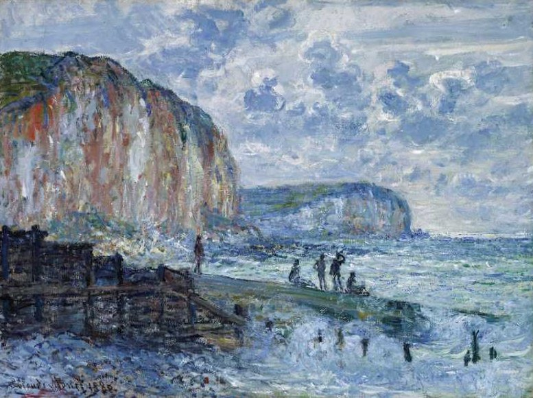 Cliffs of the Petites Dalles 1880 | Claude Monet | oil painting