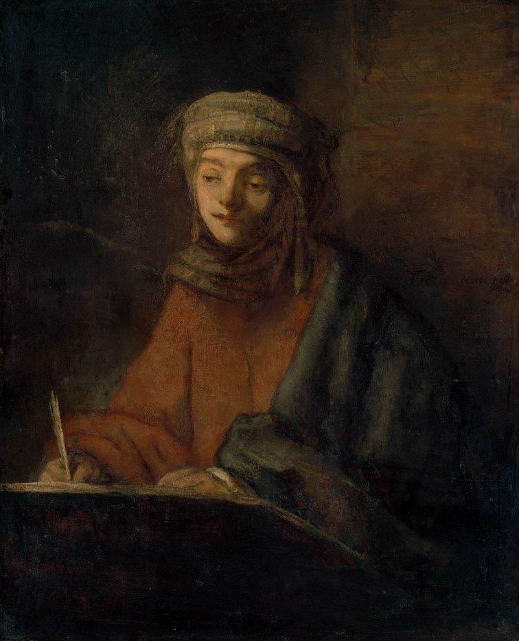 Evangelist Writing | Rembrandt Harmensz van Rijn | oil painting