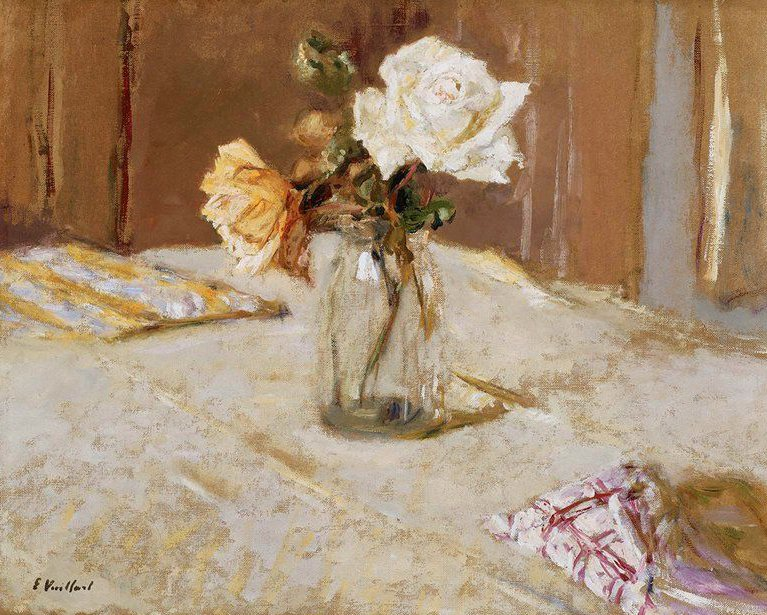 Roses in a Glass Vase 1919 | Edouard Vuillard | oil painting