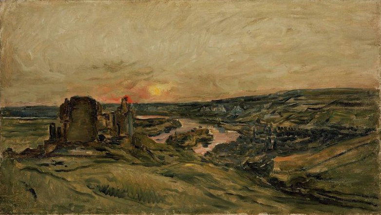 Chateau Gaillard at Sunset 1873 | Charles Francois Daubigny | oil painting