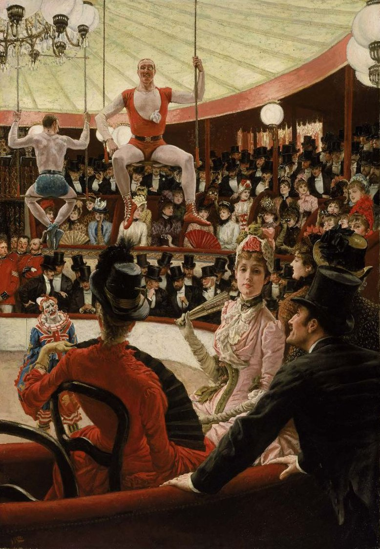 Women of Paris The Circus Lover 1885 | James Jacques Joseph Tissot | oil painting