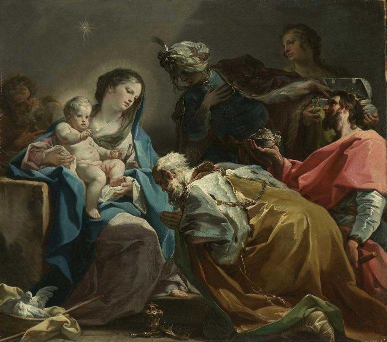 Adoration of the Magi 1725   Corrado Giaquinto   oil painting