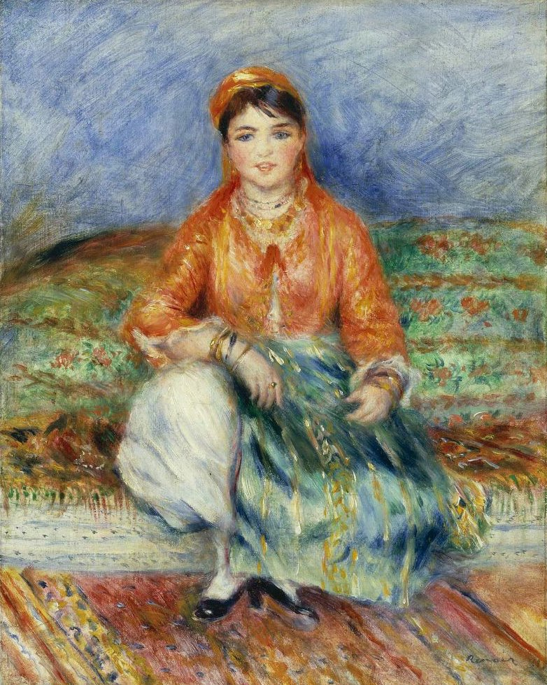 Algerian Girl 1881   Pierre Auguste Renoir   oil painting