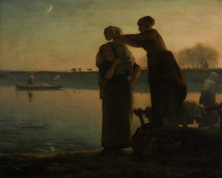 Washerwomen 1855 | Jean Francois Millet | oil painting